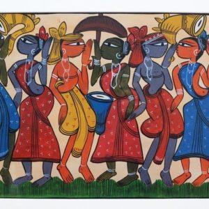 Bengal Pattachitra Tribal Dance A2
