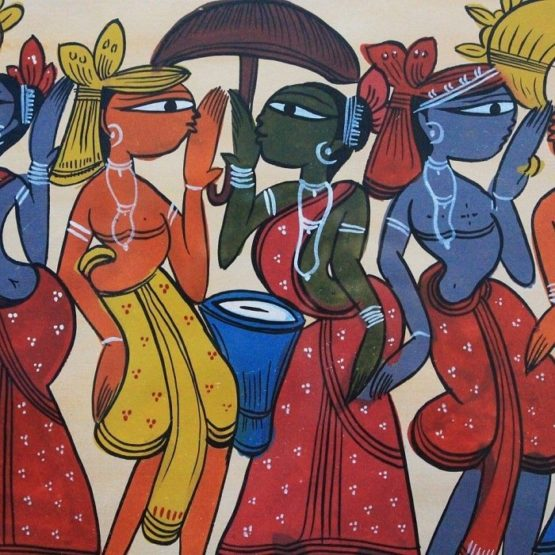 Bengal Pattachitra Tribal Dance A3