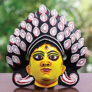 Black Devi Chhau Mask (1.5Ft) - Gi Tagged (1)