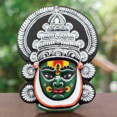 Black-Green Kathakali Chau Mask - GI Tagged (1)