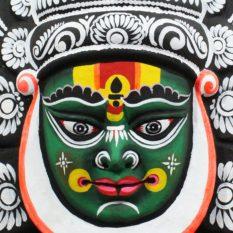 Black-Green Kathakali Chau Mask - GI Tagged (2)