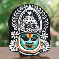 Black-Green Kathakali Chau Mask Online (1)