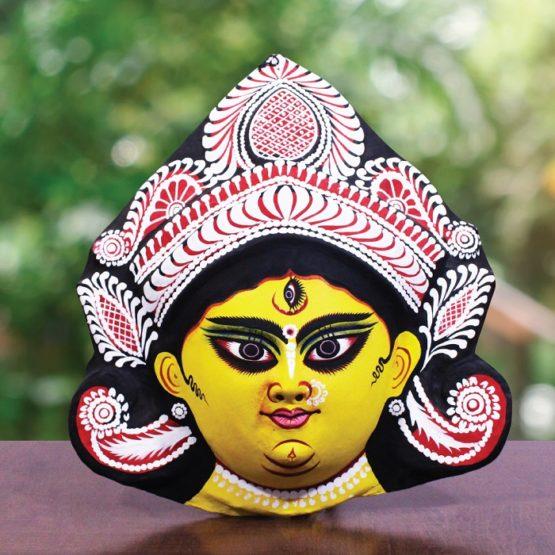 Black-Yellow Devi Chhau Mask (1)