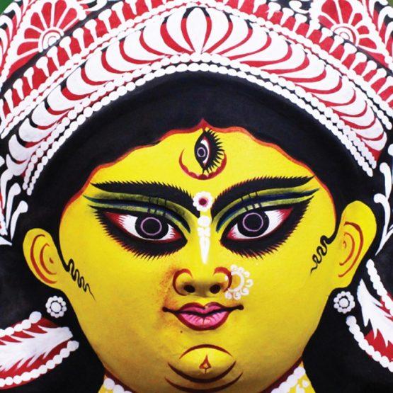 Black-Yellow Devi Chhau Mask (2)