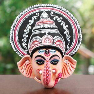 Ganapati Chhau Mask (1.5Ft) - GI TAGGED (1)