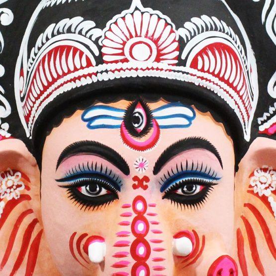 Ganapati Chhau Mask (1.5Ft) - GI TAGGED (2)