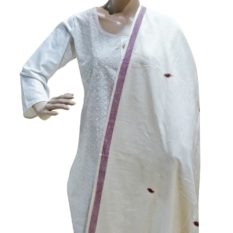GiTAGGED Natural Dyed Off-White Kotpad Cotton Dupatta 1