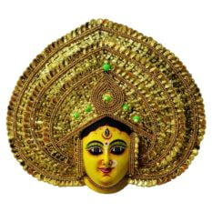 Golden Devi Chhau Mask - Leaf Design (1Ft) 1