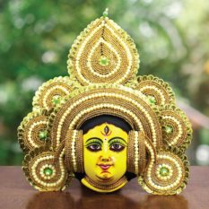 Golden Devi Chhau Mask Online - Tharkozi Design (2Ft) (1)