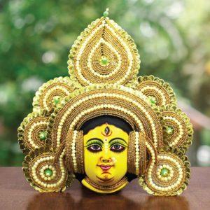Golden Devi Chhau Mask Online - Tharkozi Design (2Ft) (1)
