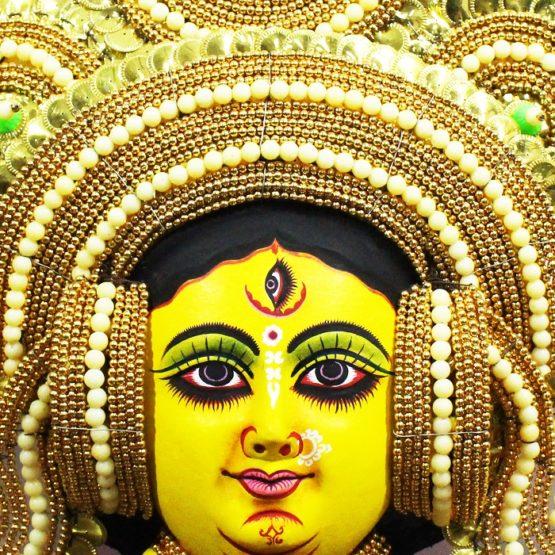 Golden Devi Chhau Mask Online - Tharkozi Design (2Ft) (2)