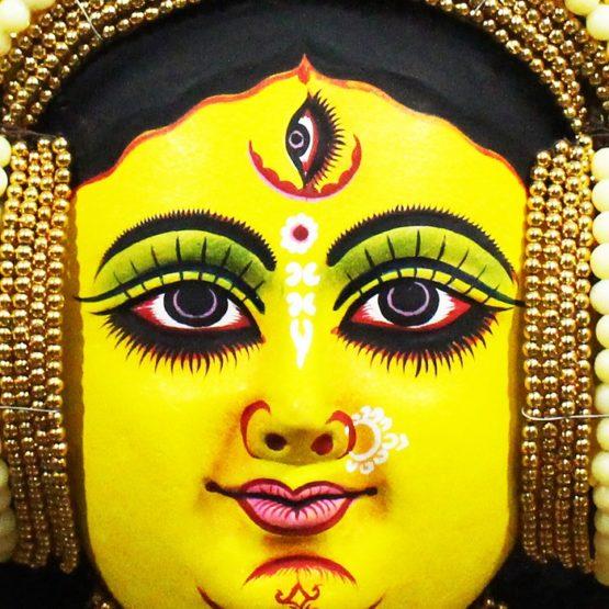 Golden Devi Chhau Mask Online - Tharkozi Design (2Ft) (3)