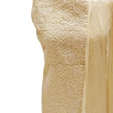 Lucknow Chikankari Cream Color Dress Material Set 1