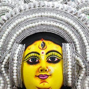 Silver Devi Chhau Mask Feather Design Online (2Ft) (2)