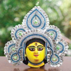 Silver Devi Chhau Mask Online - Tharkozi Design (1Ft) (1)