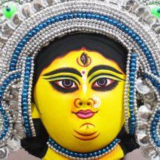 Silver Devi Chhau Mask Online - Tharkozi Design (1Ft) (2)