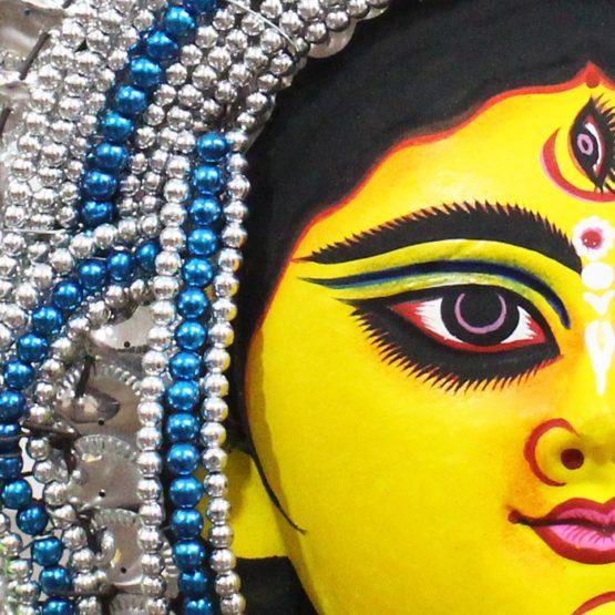 Silver Devi Chhau Mask Online - Tharkozi Design (1Ft) (3)