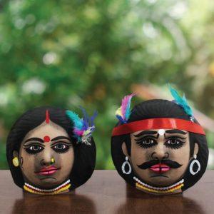 Tribe Couple Chhau Mask Online (1)