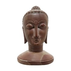 GiTAGGED Konark Stone Carving Buddha Face Sculpture 4 Inch 1