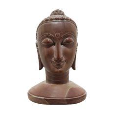 GiTAGGED Konark Stone Carving Buddha Face Sculpture 4 Inch 1