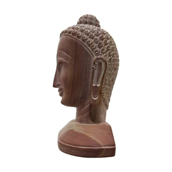 GiTAGGED Konark Stone Carving Buddha Face Sculpture 4 Inch 3