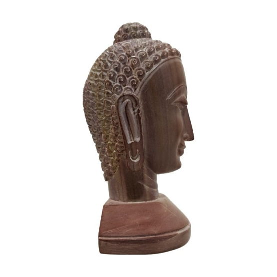 GiTAGGED Konark Stone Carving Buddha Face Sculpture 4 Inch 4