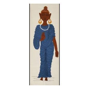 GiTAGGED Pipli Applique Buddha Blue Wall Hanging 1