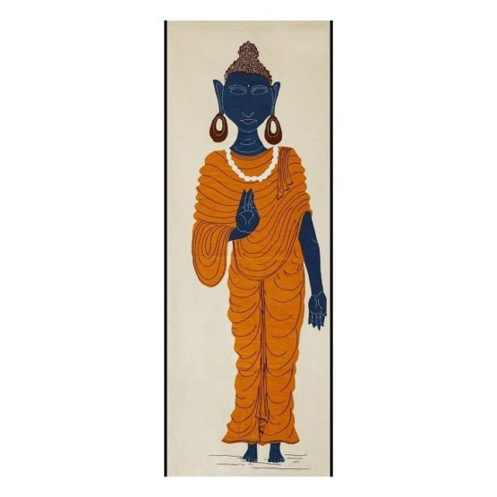 GiTAGGED Pipli Applique Buddha Yellow Wall Hanging 1