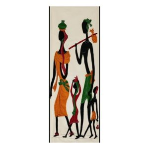 GiTAGGED Pipli Applique Tribal Family on a Trip Wall Hanging 1