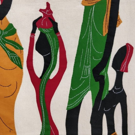 GiTAGGED Pipli Applique Tribal Family on a Trip Wall Hanging 3