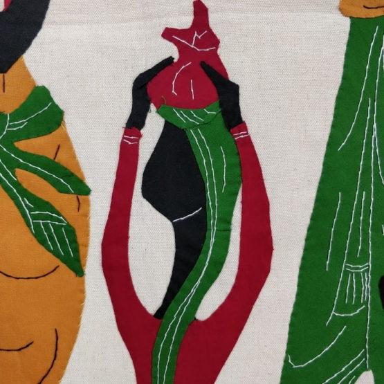 GiTAGGED Pipli Applique Tribal Family on a Trip Wall Hanging 4