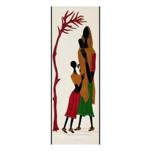 GiTAGGED Pipli Applique Tribal Mother-Daughter and Little Baby Wall Hanging 1