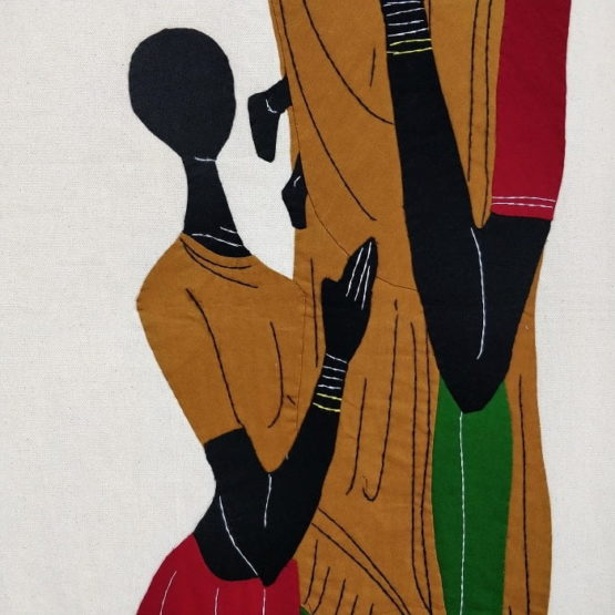 GiTAGGED Pipli Applique Tribal Mother-Daughter and Little Baby Wall Hanging 3
