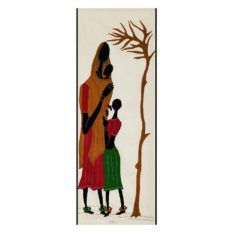 GiTAGGED Pipli Applique Tribal Woman with Daughter and Baby Wall Hanging 1