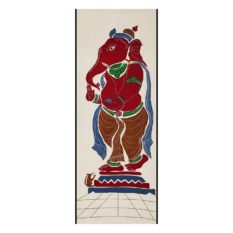 GiTAGGED Pipli Applique Work Maroon-Dijon Ganesha Wall Hanging 1