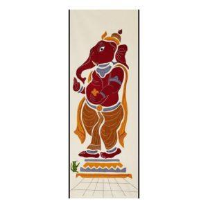 GiTAGGED Pipli Applique Work Maroon-Yellow Ganesha Wall Hanging 1