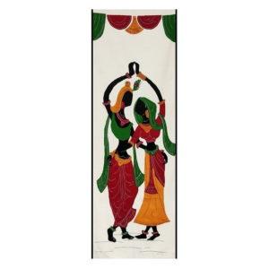 GiTAGGED Pipli Applique Work Radha-Krishna Dance Multicolor Wall Hanging 1
