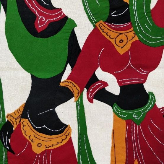 GiTAGGED Pipli Applique Work Radha-Krishna Dance Multicolor Wall Hanging 3