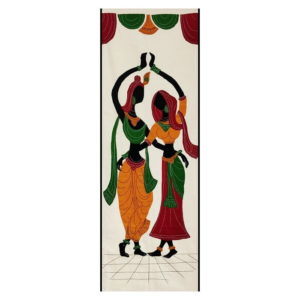 GiTAGGED Pipli Applique Work Radha-Krishna Dance Wall Hanging 1