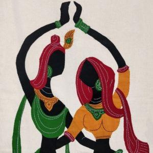 GiTAGGED Pipli Applique Work Radha-Krishna Dance Wall Hanging 2