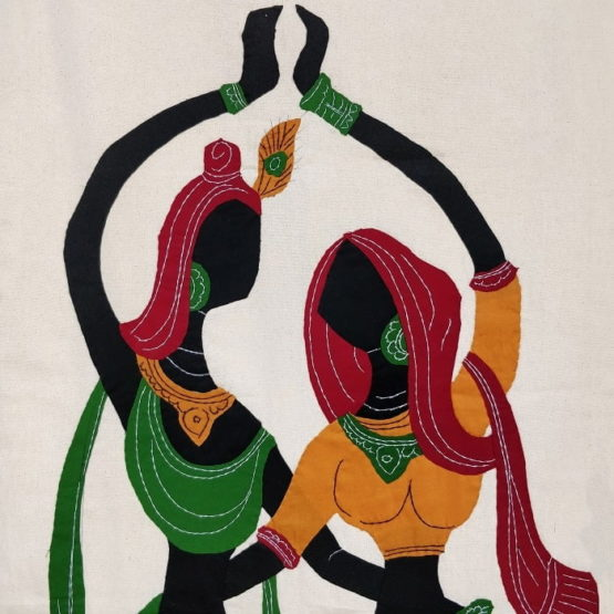 GiTAGGED Pipli Applique Work Radha-Krishna Dance Wall Hanging 2