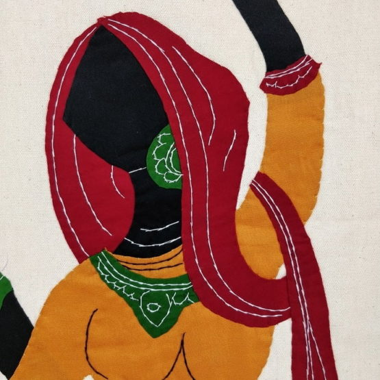 GiTAGGED Pipli Applique Work Radha-Krishna Dance Wall Hanging 4