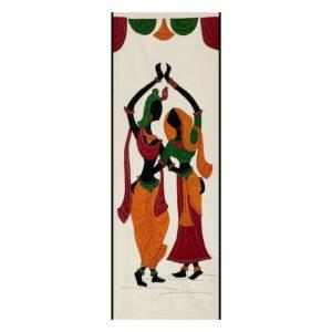 GiTAGGED Pipli Applique Work Radha-Krishna Design Wall Hanging 1