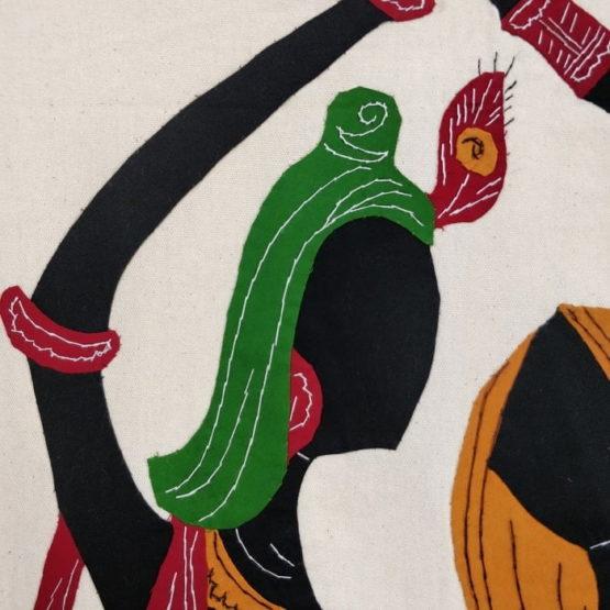 GiTAGGED Pipli Applique Work Radha-Krishna Design Wall Hanging 3