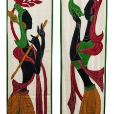 GiTAGGED Pipli Applique Green-Yellow Radha-Krishna Wall Hanging Combo (6.9x1) feet 2