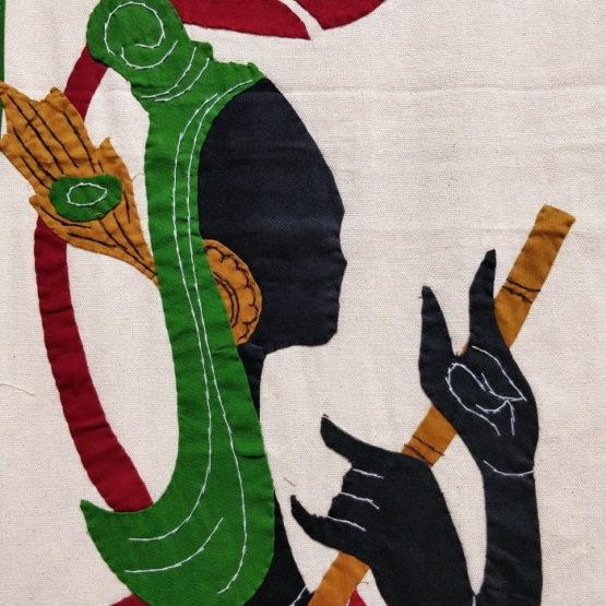 GiTAGGED Pipli Applique Green-Yellow Radha-Krishna Wall Hanging Combo (6.9x1) feet 3