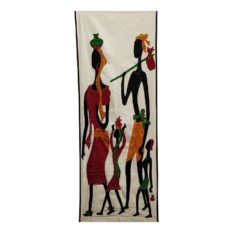 GiTAGGED Pipli Applique Tribal Family Wall Hanging (1.6×5) feet 1