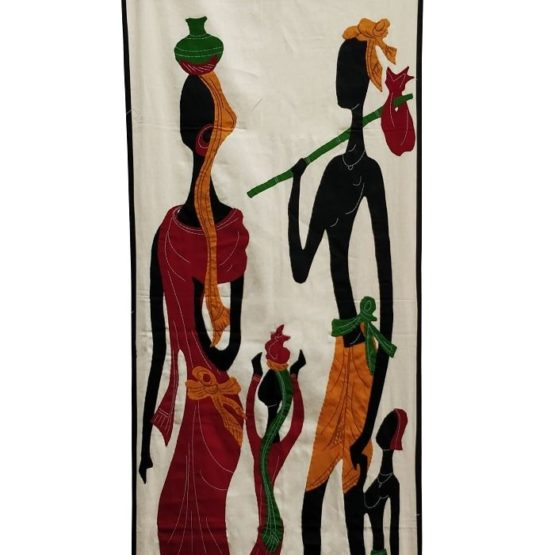 GiTAGGED Pipli Applique Tribal Family Wall Hanging (1.6×5) feet 2