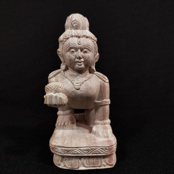 Konark Stone Carving Baby Krishna A3