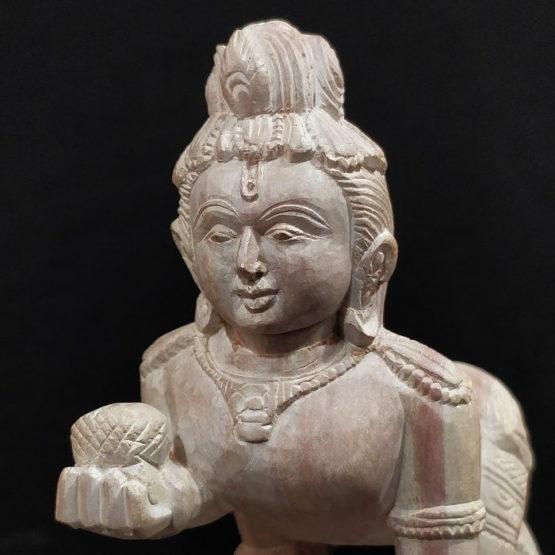 Konark Stone Carving Baby Krishna A4